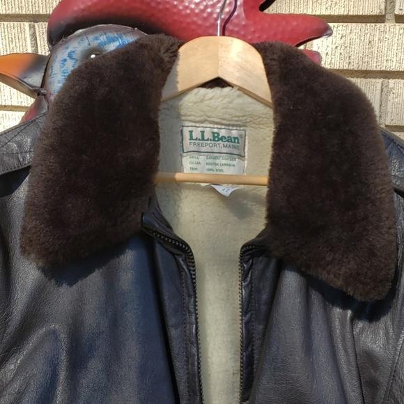L.L. Bean Other - L.L. Bean Leather Bomber Jacket